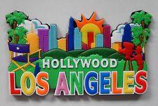 NEW Hollywood Los Angeles Fridge 3D Rubber Travel Tourist Memory Magnet
