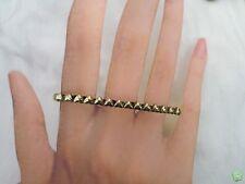 Bague 3 Doigts Fashion Style Vintage Coeurs Métal Couleur Bronze 17-18 mm
