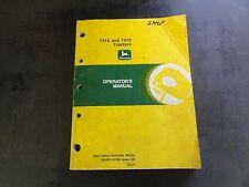 John Deere 7210 and 7410 Tractors Operator's Manual  OMAR116788