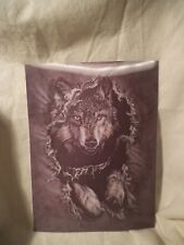 Wolf Leaping 3D Lenticular Holographic Stereoscopic Picture Wall Art Poster