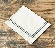 Restoration Hardware Italian Hotel Satin Stitch Ivory w / Grey Boudoir Sham