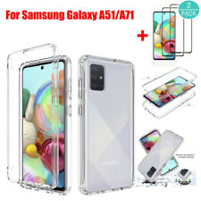 For Samsung Galaxy A51/A71 Hybrid Clear Armor Hard Case Cover+Screen Protector