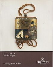 CHRISTIE'S IMPORTANT JAPANESE NETSUKE INRO LACQUER Auction Catalog 1984