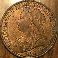 1901 GREAT BRITAIN VICTORIA ONE PENNY COIN - Uncirculated