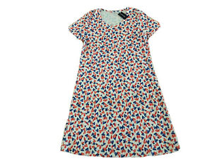 Lands' End Supima Cotton Short Sleeve Knee Length Nightdress Small 6-8 Hearts
