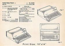 Personal Computer Apple 3 III 111 Vintage US Patent Art Drawing 14x20 Macintosh