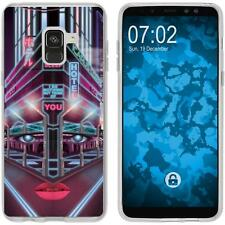 Case für Samsung Galaxy A8 (2018) Silikon-Hülle Retro Wave Cyberpunk.02 M5 Case