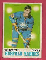 1970-71 OPC  # 127 BUFFALO SABRES PHIL GOYETTE  CARD