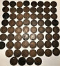 67 Indian Head Cents 1868 to 1909 Penny Mixed Lot Dates Listed Below