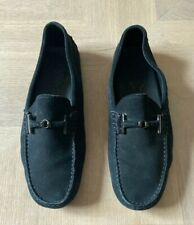 TODS Mens Blue Suede Driving Shoes Loafers Excellent Condition Size 8.5
