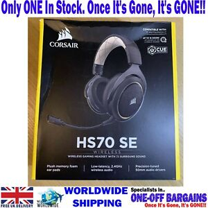 CORSAIR HS70 SE WIRELESS Carbon GAMING Headset - NEW & UNUSED ££ FREE PP ££ (UK)