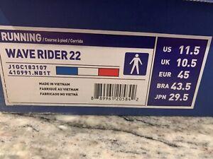 NEW MIZUNO WAVE RIDER 22 Men's Nautical Blue Running Shoes Size 11.5- Brand New!