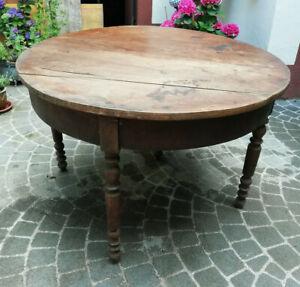 Tisch rund antik Esstisch Louis Philippe um 1860 Nussbaum Klapptisch alt