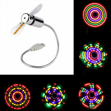 New Portable Flexible Notebook PC Colorful LED Light USB Mini Cooling Fan Cooler