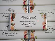 Wedding Personalised Chocolate Bridal Shower Favour MUST ORDER 20 OR MORE