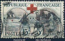 FRANCE AU PROFIT DE LA CROIX ROUGE N° 156 OBLITERATION