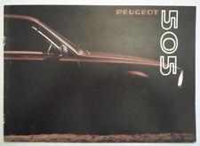 PEUGEOT 505 SALOONS 1980 UK Mkt Sales Brochure