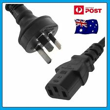 "5 x AU 3 Pin - IEC ""Kettle Cord"" Plug Australian 240V Power Cable Lead Cord"