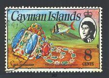CAYMAN ISLANDS 336 SG366 Used 1974 8c QEII Pirate Treasure Wmk sideways Cat$10