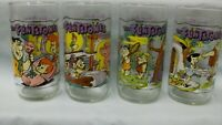 The Flintstones First 30 years 4 Drinking Glass set Hanna-Barbera Hardee's 1991