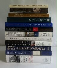 Lot 12 Jimmy Carter HC Living Faith, A Full Life, White House Diary, Call to Act