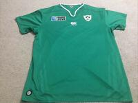 Canterbury Ireland 2015 Rugby World Cup Jersey Size 2XL XXL Green IRFU