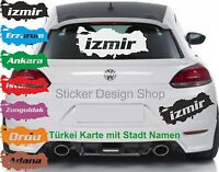 Türkei Karte mit Stadt Namen Auto Aufkleber Türkiye Sticker Wandtattoo Laptop