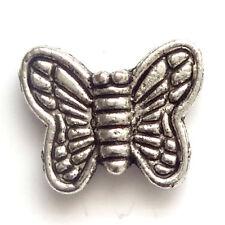 40 Tibetan Silver 12mm Butterfly Beads Jewellery Making