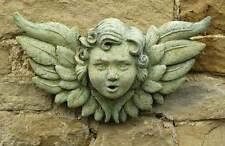 Angel Wings Cast Stone Wall Plaque Sculpture, by Artstone