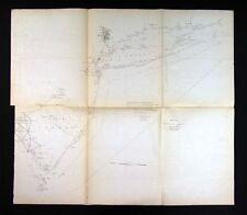 1851 US Coast Survey Map New York Manhattan Long Island Jersey Delaware Bay
