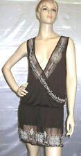 Letarte 1 Piece Swimsuit Cover Up Dress Brown Size M/L