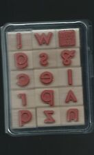 Stampin'Up! WoodMounted StampSet Contempo Alphabet-doublemounted Rubber 30 stamp