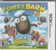 NEW & SEALED Funky Barn 3D - RUN YOUR OWN FUNNY FARM Nintendo 3DS, 2012