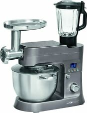 Clatronic KM 3674 Mixer Food Processor,with Blender & Meat Grinder 6.2L 12 Speed