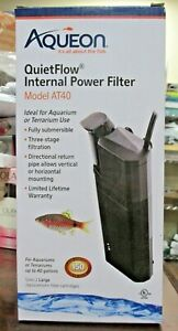 NEW!! Aqueon QUIETFLOW Internal Power Filter Aquarium/Terrarium - AT40 (1229)