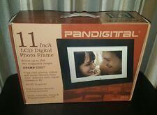 Pandigital 11 Inch LCD Digital Photo Black Wood Frame, 256MB, NIB Remote Control