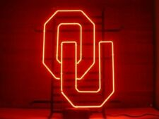 """New listing New Oklahoma Sooners Up Neon Light Sign 20""""x16"""" Beer Cave Gift Lamp"""