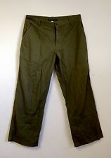 Theory Army Green Cargo Cropped Pants Size 32