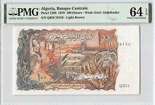 Algeria 1970 P-128b PMG Choice UNC 64 EPQ 100 Dinars