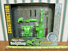 Lime Green Excavator Activity Set American Muscle Body Shop By Ertl 1/64th Scale