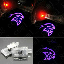 2x Purple Hellcat Logo LED Door Laser Projector Lights For Dodge Charger 2006-19
