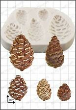 Silicone mould Pine Cones | Food Use FPC Sugarcraft FREE UK shipping!