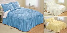 Isabelle Medallion Chenille Cotton Bedspread Blue -Full