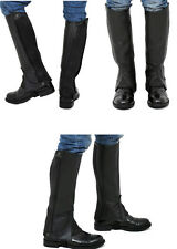 Riders Trend Full Grain leather Half Chaps Chocolate Brown - Childrens