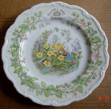 Royal Doulton Collectors Plate SPRING From BRAMBLY HEDGE