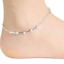 New Women Fashion 925 Sterling Silver Star Charm Chain Ankle Wrist  Bracelet
