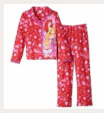 Disney Princess Pajama Pj Set Button Front Long Sleeve Shirt Girl Clothes Size 6