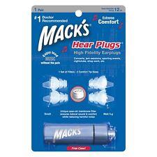 Mack's Hear Plugs High Fidelity Earplugs for Concerts Nightclubs Shop Work