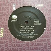GUNS N' ROSES - PARADISE CITY - - 1989 UK PICTURE SLEEVE 7
