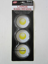 3PC NON STICK LARGE EGG RINGS POACHING POACHED OR FRIED EGG RINGS FRYING PAN